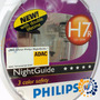 Lâmpada Night Guide Philips H7 3 Cores Original