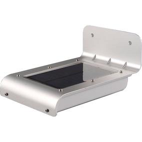 Luminária Parede Solar 24 Leds Sensor Movimento 36hrs De Luz