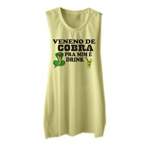 Regata Carnaval Blusa Cavada Roupa Feminina Veneno De Cobra