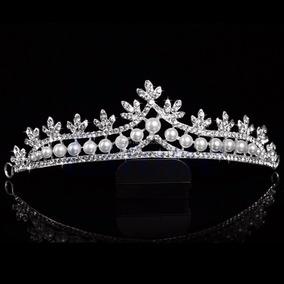 Coroa Noiva Tiara Debutante Princesa Miss Casamento Perola