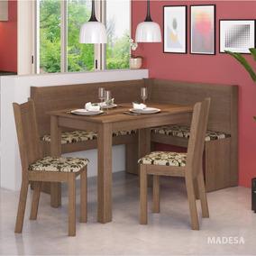 Conjunto Canto Alemão Mesa Com 2 Cadeiras Liebe Ci