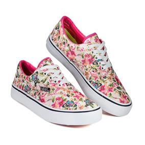 Tênis Vans Preto Floral Florido Oferta 50% Off
