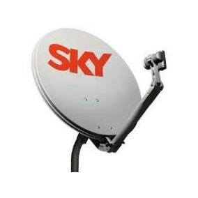 Antena Sky Livre Com Kit De Fixação E Lnb Simples