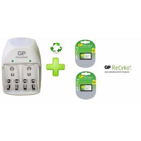 Cargador Gp 9v Pilas Aa/aaa/9v + 2 Baterias 9v 150mah