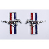 2 Pzs Emblema Ford Mustang Caballos Metálicos Autoadherible