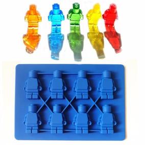 Forma De Silicone Lego Boneco Chocolate Gelo Biscuit