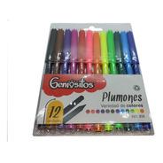 Plumon Geniositos X 12 Unidades - Escolar