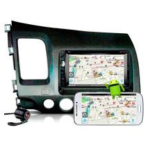 Kit Central Multimidia New Civic Dvd Tv Gps Camera Bluetooth
