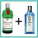 Kit London Gin Tanqueray + Bombay 750ml - Caixa De Madeira