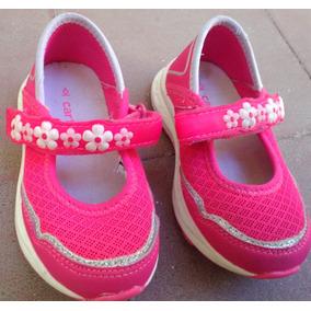 Zapatillas Zapatos Guillerminas Con Luces Carters 22 Rosa