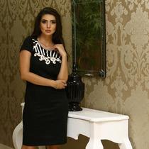 Vestido Social Moda Evangélica- Preto