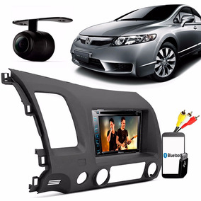 Kit Multimidia New Civic Dvd Pioneer Usb Rca Moldura Camera