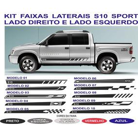 Acessorios Chevrolet S10 Adesivos Laterais Par Cabine Dupla
