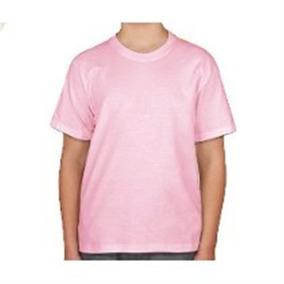 Camisa Rosa Claro Bebê Para Sublimação Lisa 100% Poliéster