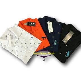 5 Camisas Polo Bordada Camisetas Masculina Baratas Atacado