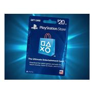 Psn 20 - Playstation Network 20 U$s [tarjeta Fisica] (usa)