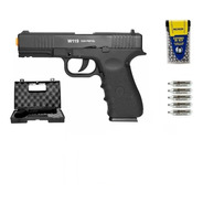Pistola Airgun Co2 Wg Glock W119 - 4,5mm Blowback Metal