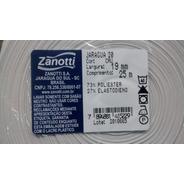 Elastico Zanotti Jaraguá 20 - 19mm, Rolo 25 Mts, Cor Branco