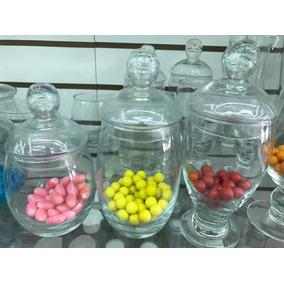 Set 3 Carameleras Con Tapa Candy Bar Vasos Con Tapa