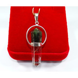 Pingente Pêndulo Em Prata 950 Com Pontas De Cristal Natural