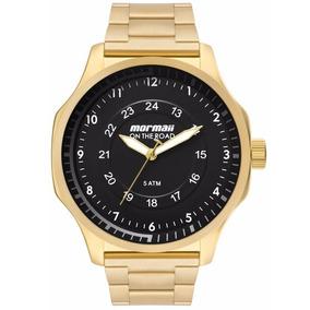 5c90901d75fed Relógio Mormaii Masculino On The Road Quadrado Dourado - Relógios no ...