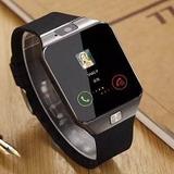 Relógio Celular Smart Watch Zd09 C/ Chip Câmera Cor Preto