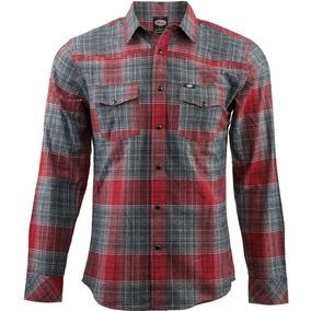 Camisa Bell Duke Tejida Con Botones Roja/gris Sm