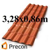 Telha Colonial Pvc Precon 3,28m Por 0,86m / 3,28x0,86m