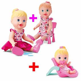 Kit Com 3 Baby My Little Faz Xixi + Lanchinho + Conforto