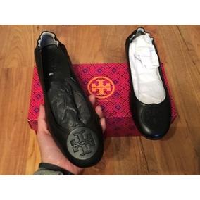 Padrisimos Zapatos Flats Tory Burch Travel Ballerinas!!