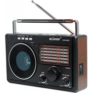 Radio Portátil Retro Am Fm Sw Usb Sd Livstar Cnn686ru