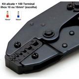 Kit Alicate Prensar Tubolar Ilhos 0,5 A 16mm² E 100 Terminal