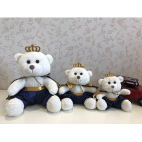 3 Ursos Príncipes Pelúcia P/ Nicho P,m,g Decoração Bebê