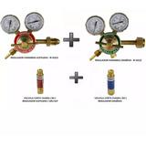 Kit Regulador Para Cilindro De Acetileno E Oxigênio + Vcc