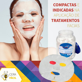 Máscara Desidratada Tratamento Facial Limpeza De Pele 50 Un