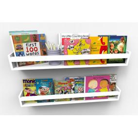 Prateleiras Para Livros Infantis Quarto Bebê 90cm - 2 Peças