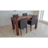 Muebles De Comedor, Mesa Con Cuatro Sillas De Algarrobo Fino