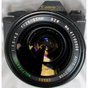Gg Canon T50 Cámara Rollo 135 Lente Sears 28-85 3.5 Bazardpp