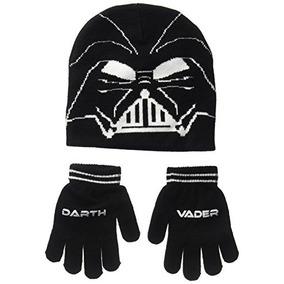 Star Wars Little Boys Set De Sombrero De Punto Darth Vader,