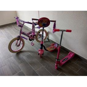 Combo Infantil Bicicleta +2 Patines Del Diablo