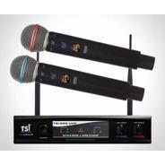 Microfone Tsi 900 Uhf 96 Canais Substitui Tsi Ud1800 Ud800