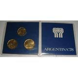 3 Monedas Mundial Fifa Argentina