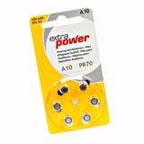 60 Pilhas A10 Pr70 Aparelho Auditivo Extra Power