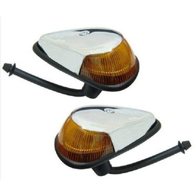 Lanterna Dianteira Pisca Par Fusca 70/... Completo Ambar