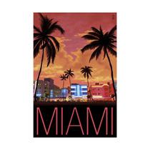 South Beach Miami, Florida Print, 24 X36