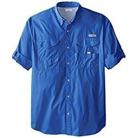 Columbia Blue Camisa 100% Cotton Ideal Xxl Tall Amplia