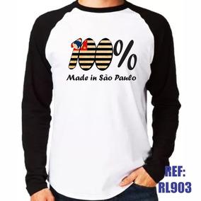 Camisa Raglan Manga Longa 100% Made In São Paulo Brasil