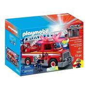 Unidad De Rescate De Bomberos Playmobil C/ Accesorios - 5682