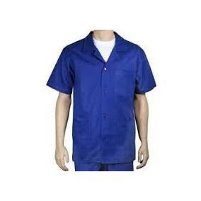 Uniforme Profissional (calça E Jaleco) Em Brim Pesado Azul