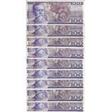 Billetes Antiguos De 100 , 20, 50, 5 Pesos , Lote